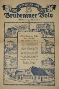 25th anniversary of the Philippsburg newspaper, the Bruhrainer Bote (The Bruhrain Messenger)