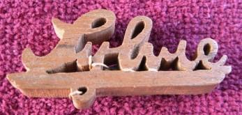 The wood pin