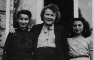 L. to R. Isabelle, Madame Van Hal and Rosalie