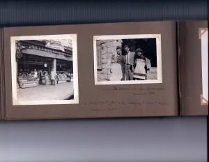 Uncle Moritz and Tante Hedwig in LA, 1945.