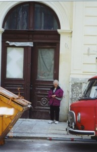 2000—I am standing in front of the huge entrance door to 7 Thomasius Strasse