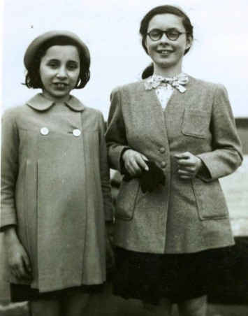 1944 – Ruth and Gina Knopf.  Ruth had outgrown her clothes at war's end