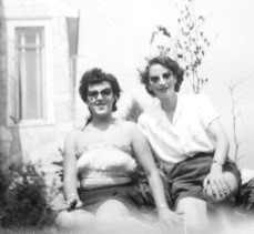 1949 - Paula and I in Lakewood, NJ
